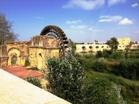 Ancient Water Wheel Cordoba Spain