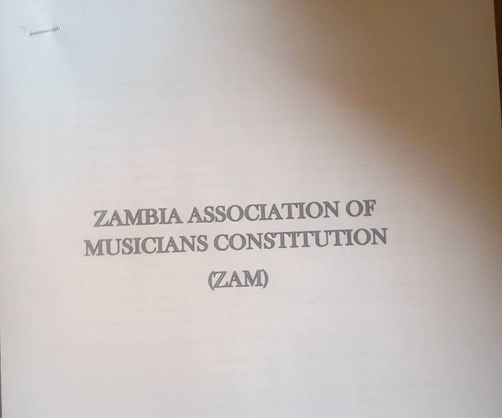 Zambia Association of Musicians Constitution..(ZAM)