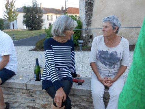 Les Réunionaises Anne-Marie et Chantal