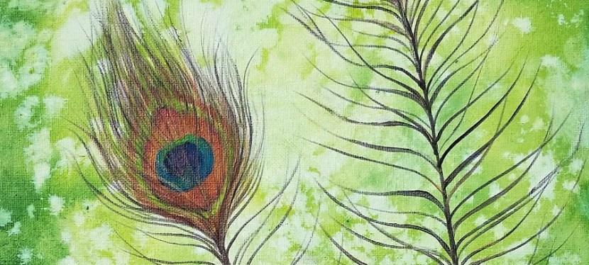 Acrylic Peacock Feather