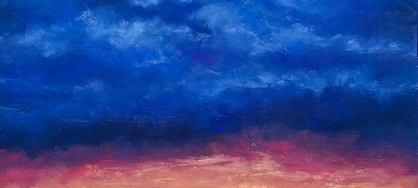 Pastel Blue Sky City