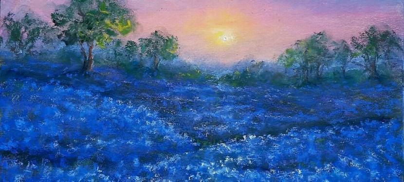 Pastel Bluebonnet Sunrise