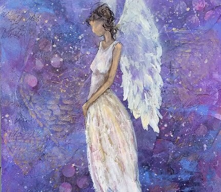 Mixed Media Guardian Angel