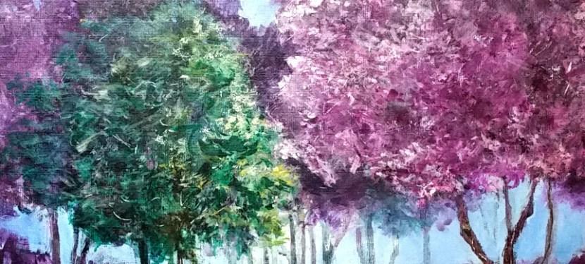 Acrylic Spring Drip Tree