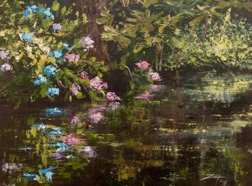 Hydrangea Reflection 9x12 acrylic © Zan Savage All images are copyright © Zan Savage. Copying, altering, printing or redistribution of any images without written permission from the Artist is strictly prohibited.