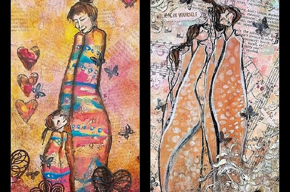 Mixed Media Love and Friendship