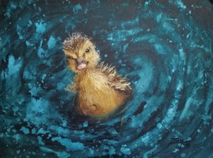 Little Duckling 9x12 acrylic © Zan Savage All images are Zan Savage originals. Copying, altering, printing or redistribution of any images without written permission from the Artist is strictly prohibited.