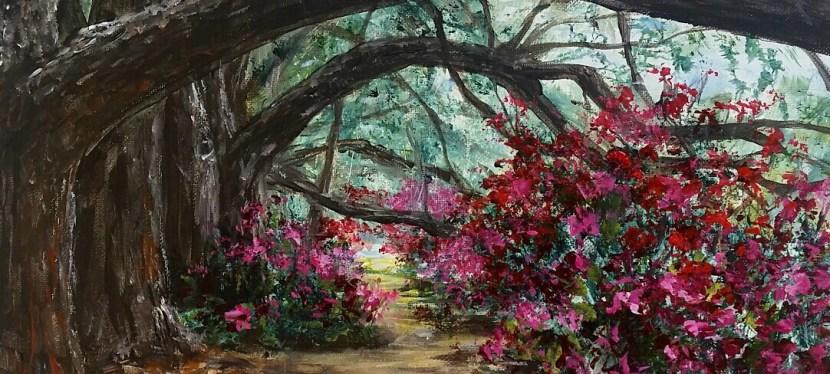 Acrylic Magnolia Plantation Path
