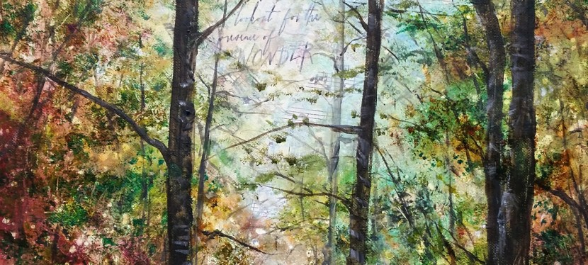 Mixed Media Forest Light