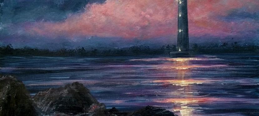 Acrylic Morris Island Lighthouse