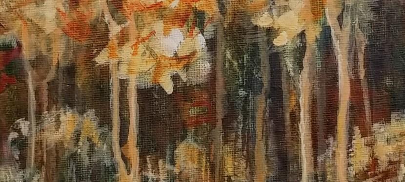 Acrylic Fall Drip Trees