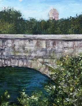 Ancient Rome Bridge 11x14 mixed media © Zan Savage Image is a Zan Savage original. Copying, altering, printing or redistribution of any images without written permission from the Artist is strictly prohibited.