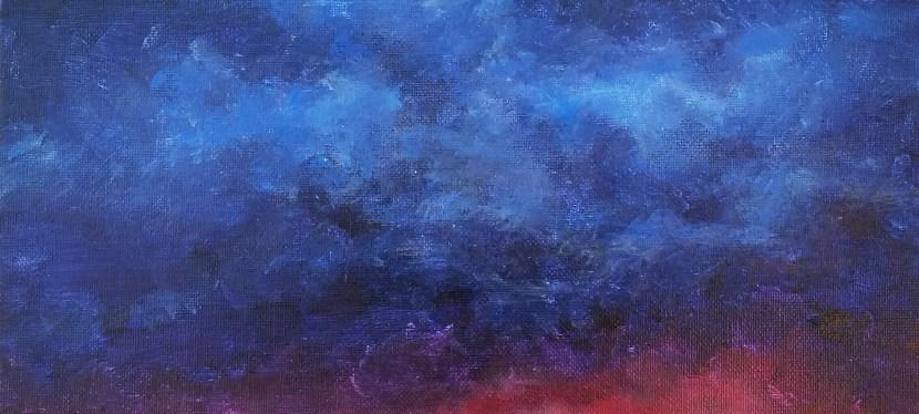 Acrylic Blue Cloud City