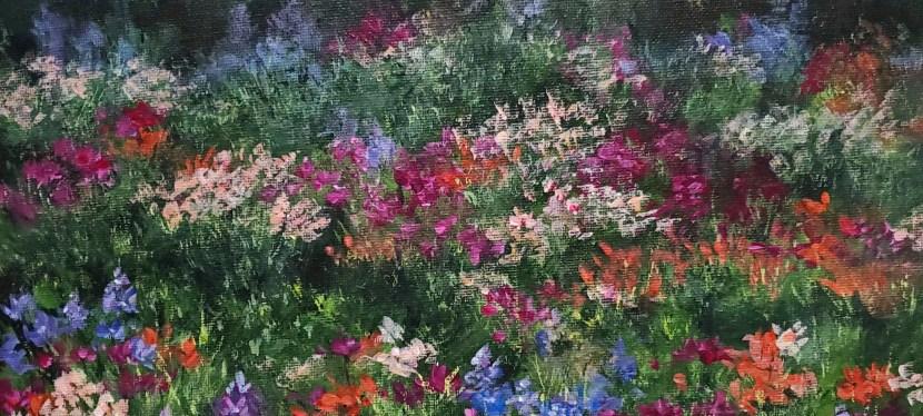 Acrylic Wildflower Field