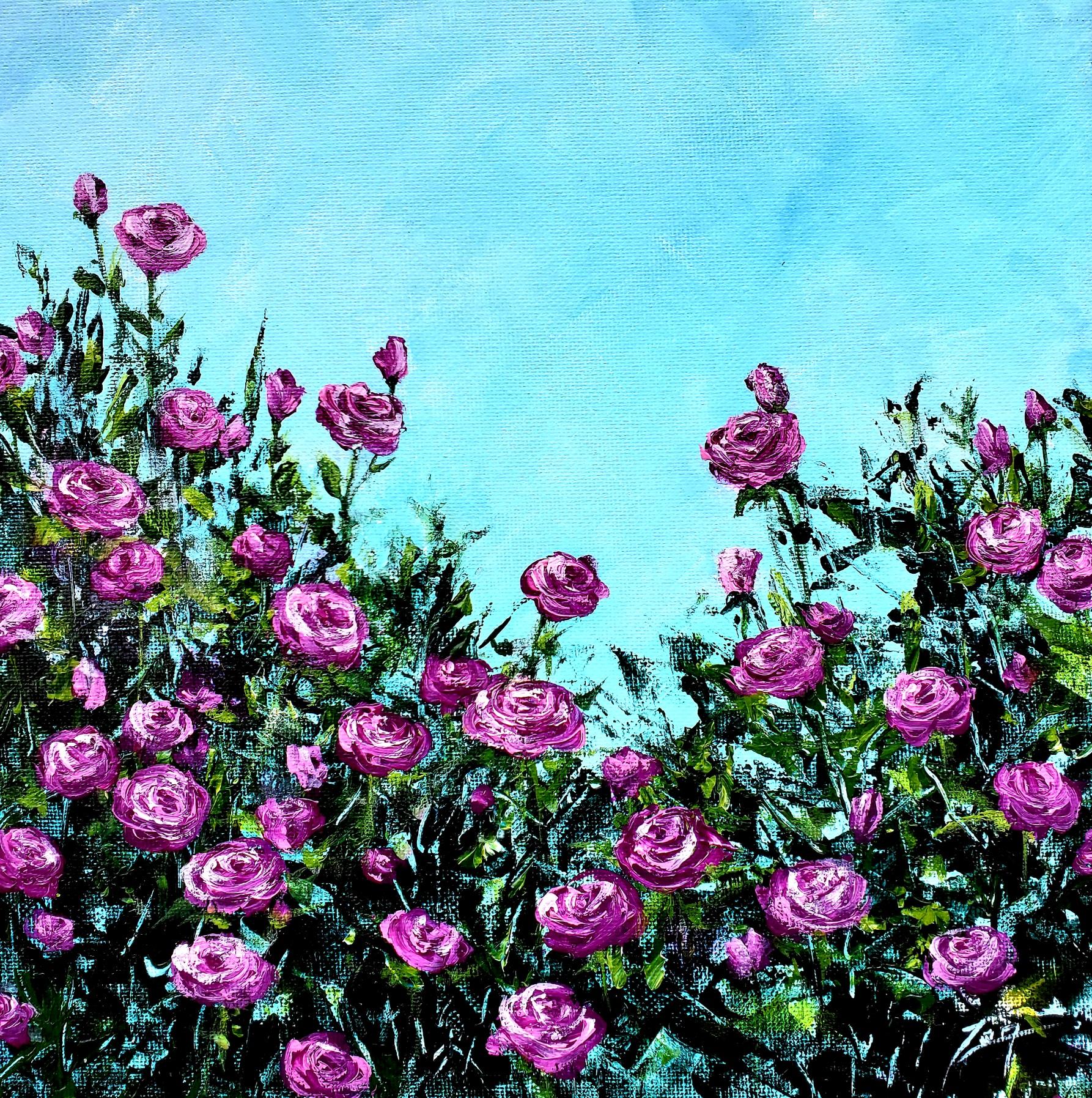 Abstract Roses wv 10x10 ©Zan Savage