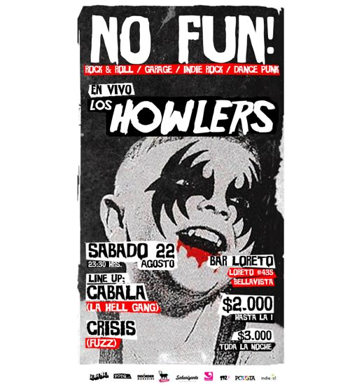 NO FUN! - SABADO 22 AGOSTO - BAR LORETO