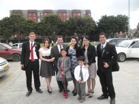 With the Bishop and his family