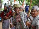 Villagers of Cashibo greet their new guests;  Photo by: Bullseye Productions Ltd. and Chris Taylor