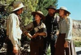 Riders of the Purple Sage - 1996 edition: Still with Henry Thomas, Robin Tunney, Ed Harris and Amy Madigan