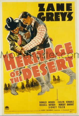 Heritage of the Desert. 1939 edition