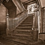 Zang Grand Staircase & Venece windor B&W-4