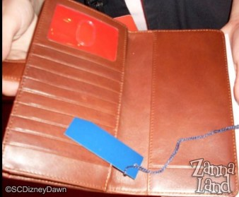 Inside the checkbook wallet brown mickey Dooney & Bourke design