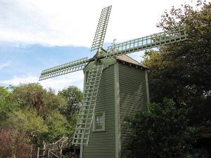 Potter's Mill as you approach the island