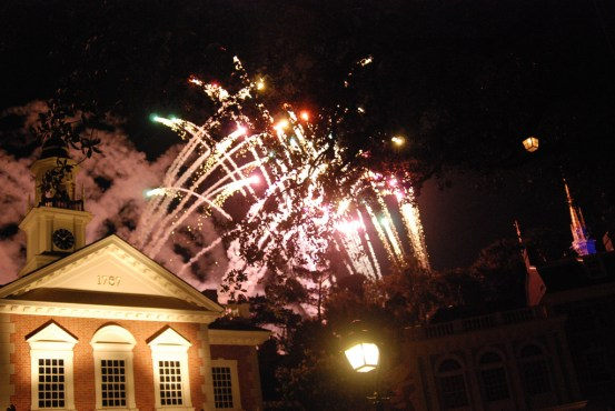 Hall of Presidents Fireworks