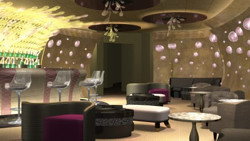 Pink lounge
