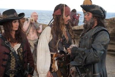 Penelope Cruz, Johnny Depp and Ian McShane