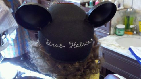 First Haircut Mouse Ear Hat