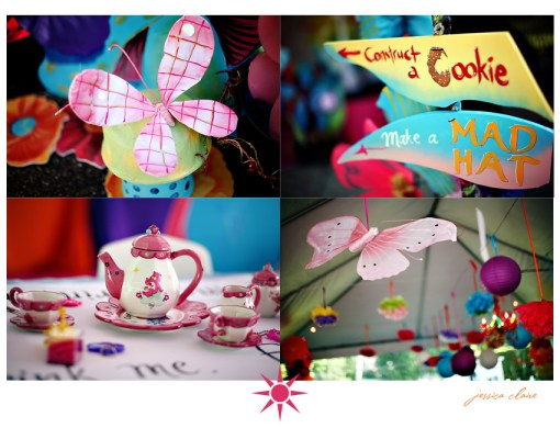 Alice in Wonderland birthday party decor
