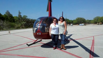 Zanna Shelley LEGOLAND helicopter tour