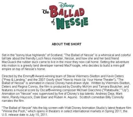 THE BALLAD OF NESSIE description