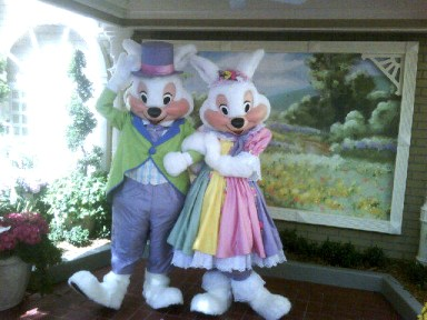 Easter bunny at Magic Kingdom