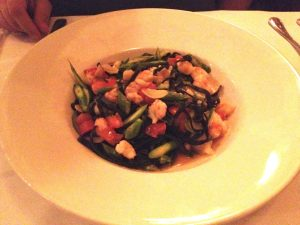 Black Linguini with Florida Rock Shrimp