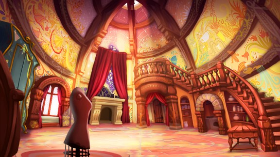 DEM 3DS Rapunzel Fortress Room Concept Art