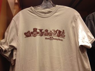 Disney retro character heads t-shirt