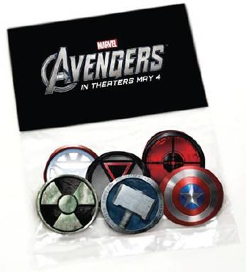 Avengers buttons
