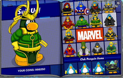 Club Penguin Marvel Super Hero Takeover