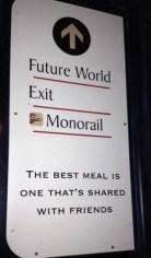 Epcot exit sign