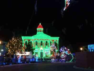 City Hall with Mickey and Minnie lights