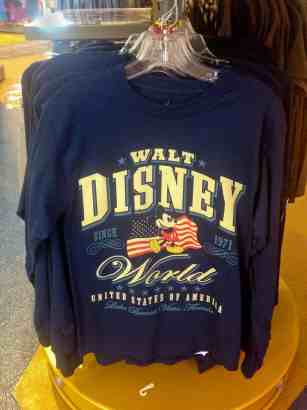 Walt Disney World, Americana Adult T-Shirt