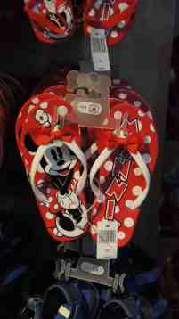 Minnie Mouse Bow Youth Flip Flops