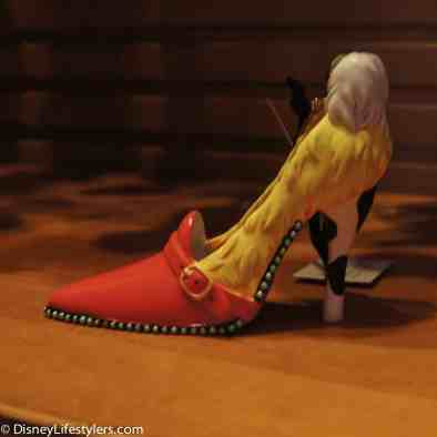 Disney Cruella De Vil character-inspired shoe ornament