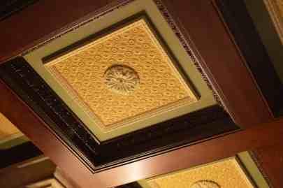 Ceiling decoration inside suite