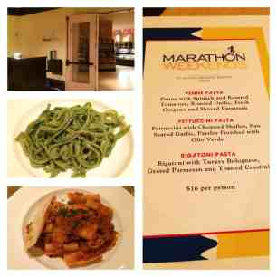 "Two of the ""Carb Loading"" pasta options from Harvest Bistro at the Hilton Bonnet Creek"