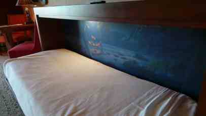 Pull down bed inside studio villa