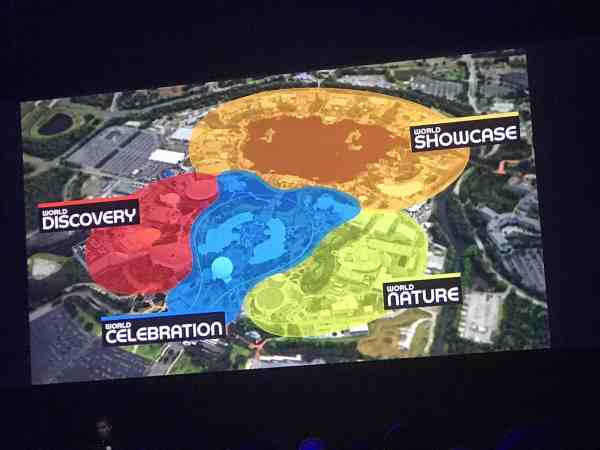 New EPCOT Map