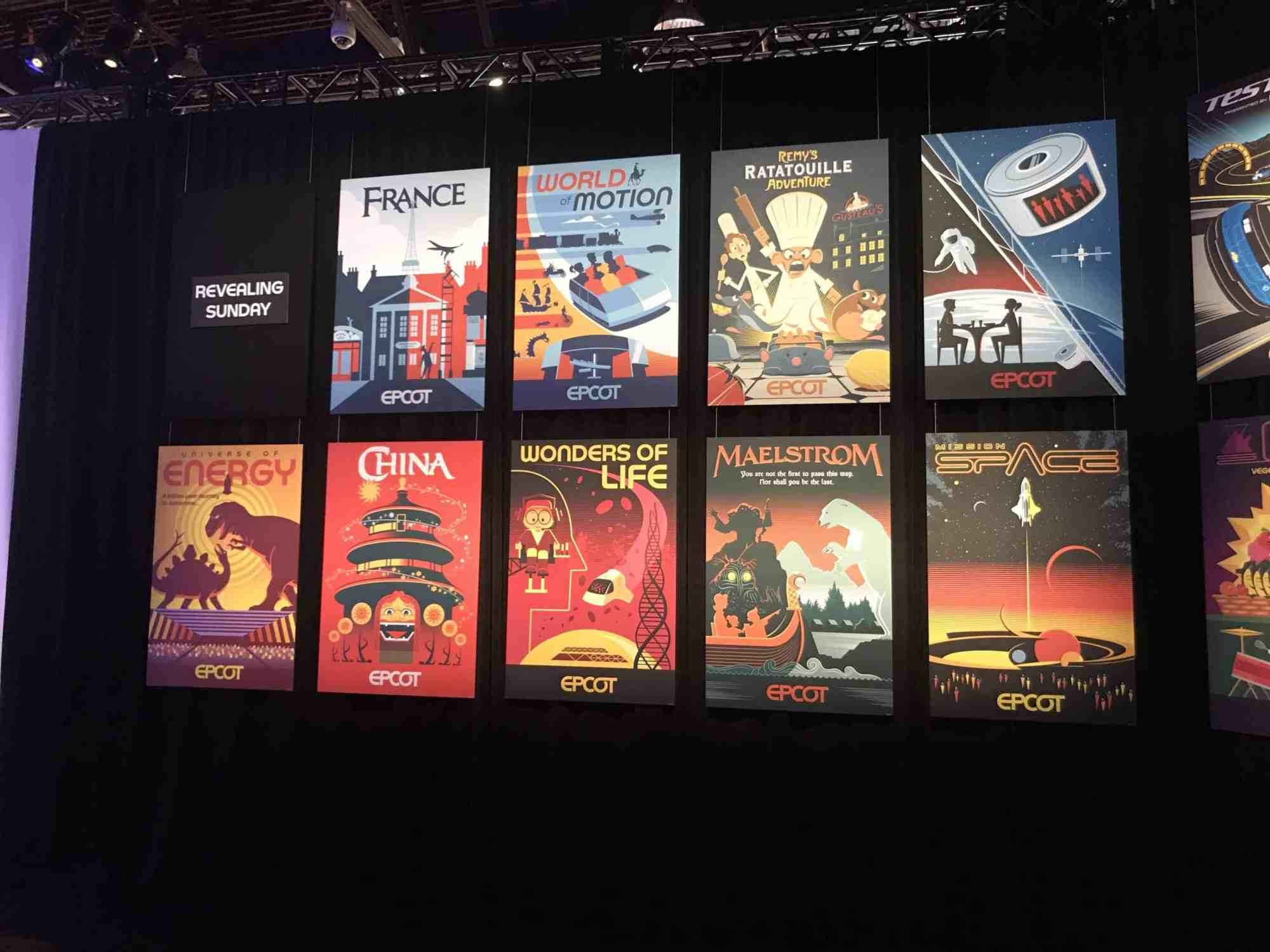 EPCOT Attractions Posters